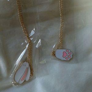 2 bunny necklaces